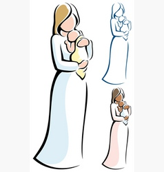 mother and child vector image vector image