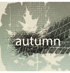 old autumn background vector image vector image