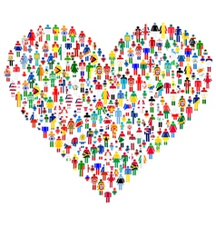 People made Heart Shape vector image vector image
