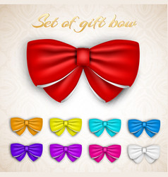 colorful gift bows set vector image vector image
