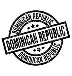 Dominican republic black round grunge stamp vector