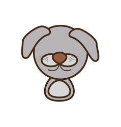 face doggy cartoon animal vector image