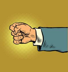 hand of a businessman beats fist vector image