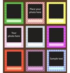 Photo frame set for scrapbook vector