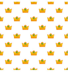 baroness crown pattern seamless vector image vector image