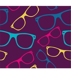 Glasses seamless pattern retro sunglasses vector image vector image