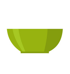 green bowl isolated vector image