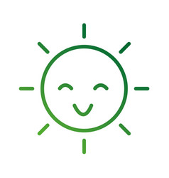 happy cartoon sun weather light day vector image