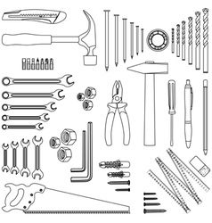 Home tools vector image vector image