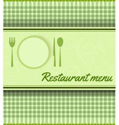 restaurant green template vector image