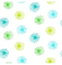 seamless pattern with small furry flowers vector image vector image