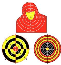 set targets for practical pistol shooting vector image