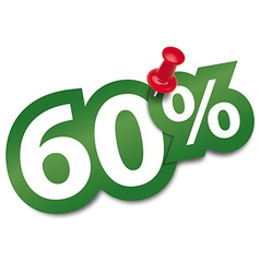 Sixty percent sticker vector image vector image