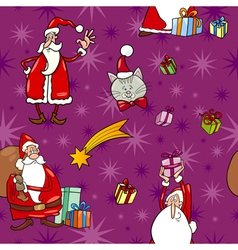 christmas cartoon seamless pattern tile vector image
