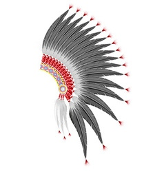 mohawk hat of the american indians vector image