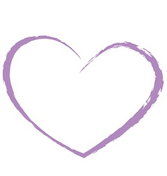 purple heart drawing love valentine vector image vector image