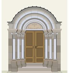 Romanesque portal vector image vector image