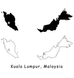 1109 kuala lumpur malaysia vector image