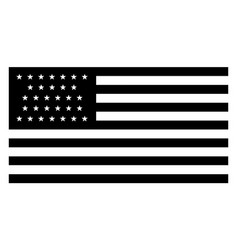 31 star united states flag 1851 vintage vector