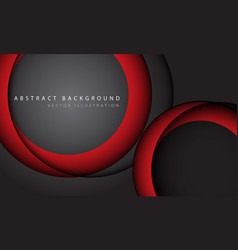 abstract red circle overlap shadow on grey vector image