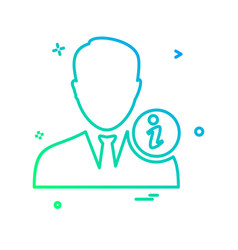 avatar male icon design vector image
