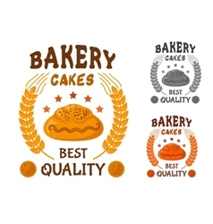 Bakery cakes icon with sweet bun vector