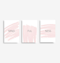 banner-set-mindfulness vector image
