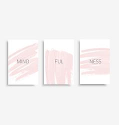 Banner-set-mindfulness vector