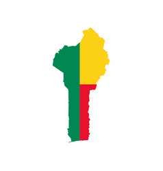 benin map and flag vector image