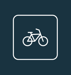 bicycle outline symbol premium quality isolated vector image