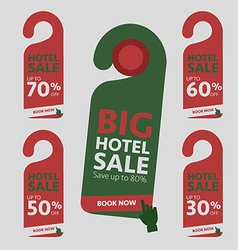 Big Hotel Sale badge sticker label or tag vector