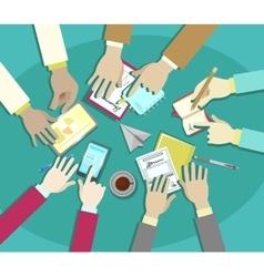 Business meeting flat design businessman vector image