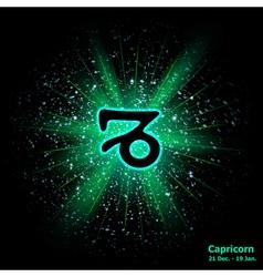 Capricorn luminous vector