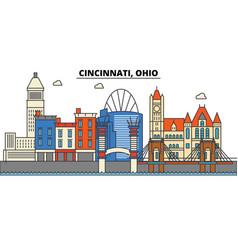 Cincinnati ohio city skyline architecture vector