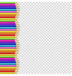 colored pencils left side border in shape of wave vector image