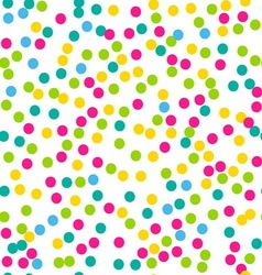 Confetti seamless pattern Bright colors vector image