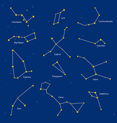 constellations vector image