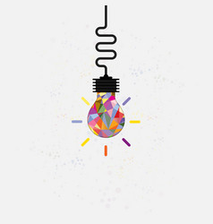 creative bulb light idea abstract design vector image