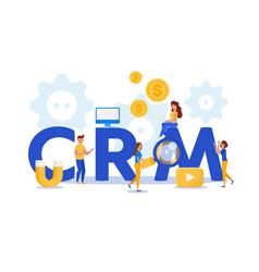 crm customer relationship management concept vector image