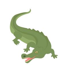 Crocodile cartoon icon in flat style design vector