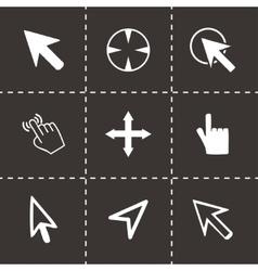 cursor icons set vector image
