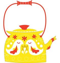 Cute kettle vector