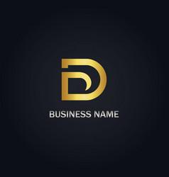 d gold logo vector image
