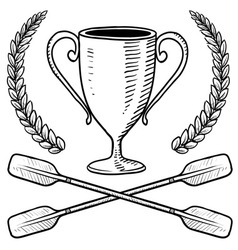 doodle award canoo vector image