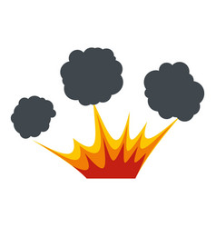 explosion icon isolated vector image vector image