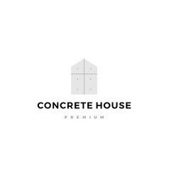 exposed concrete house logo icon vector image