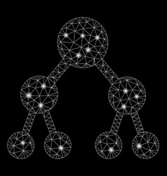 flare mesh 2d binary tree with flare spots vector image