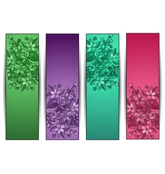 Floral banners collection vector
