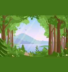 Forest landscape flat vector