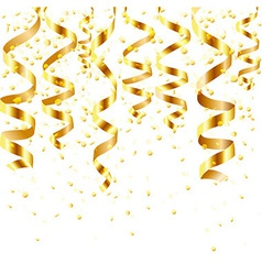 Gold Curling Stream vector